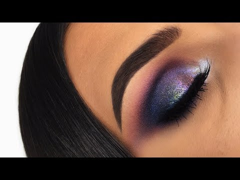 DUO CHROME PURPLE GREEN GALAXY LOOK | MAKEUP TUTORIAL