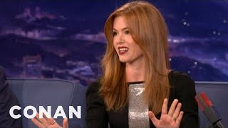 Isla Fisher Is Embarrassed To Go Out With Sacha Baron Cohen  - CONAN on TBS