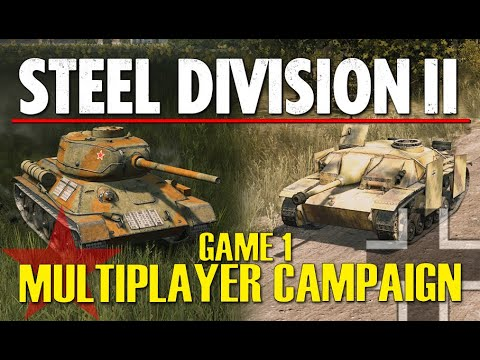 HOMEMADE MULTIPLAYER CAMPAIGN! Steel Division 2 Closer Combat Gameplay (Mogilev, 4v4)