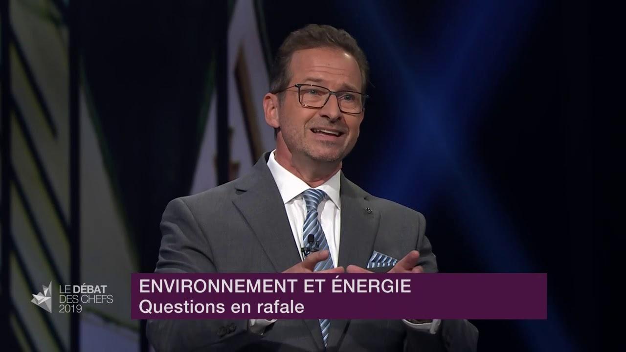 Yves-François Blanchet répond à la question du modérateur sur le 3e lien entre Québec et Lévis