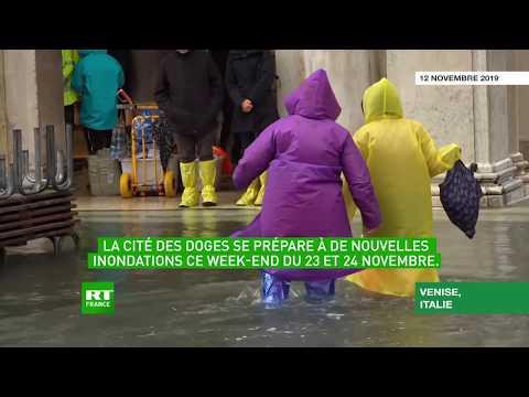Italie : Venise sous les eaux craint la prochaine «acqua alta»