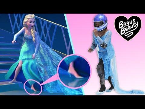 I Tried Running On Ice In Heels Like Elsa In Frozen (видео)