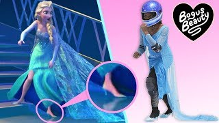 I Tried Running On Ice In Heels Like Elsa In Frozen