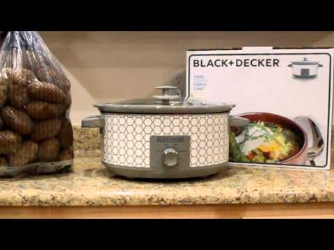 Black & Decker 7-Quart Slow Cooker with 3 Heat Settings: Unbox & Cooking