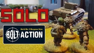 Bolt Action Solo Game 01: Britain Vs Germany