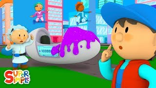 Dr. Toodleoo's Time Machine Needs a Car Wash | Carl's Car Wash | Cartoons For Kids