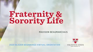 2020 Orientation - Fraternity And Sorority Life At Valdosta State