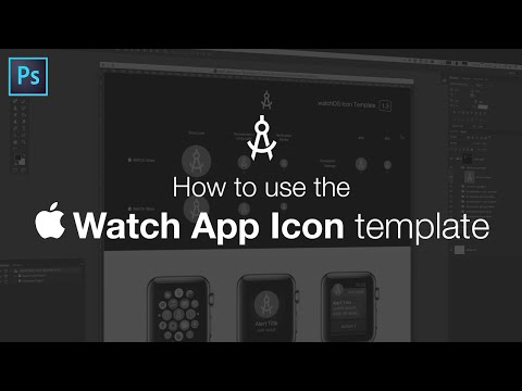 How to use the Apple Watch App Icon template