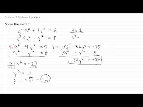 Solving Nonlinear Systems p2