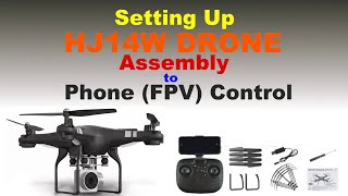 Tutorial: Assembling HJ14W Drone and using Phone FPV App (English Subtitle)