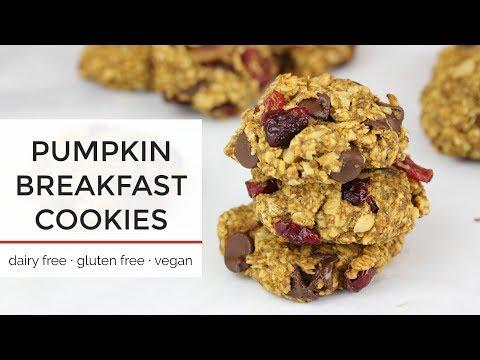 Pumpkin Breakfast Cookies   Easy Healthy Vegan Cookie Recipe