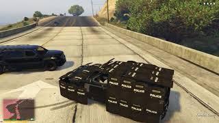 GTA 5 - Car with 53 Police Shields
