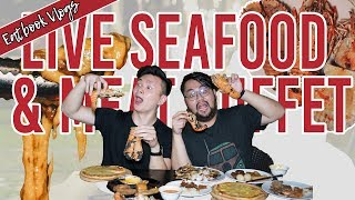 $38+ Live Seafood BBQ Buffet w/ Free-Flow Cheese | Eatbook Vlogs | EP 39