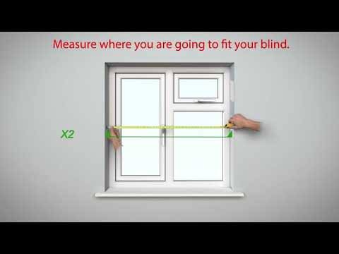 How To Measure - BlocOut™ Blind - Recess Mount