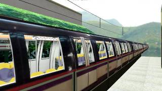 Openbve] SMRT CT251 Arriving at kennedy town - SMRT C651