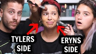 MY HUSBAND AND NIECE DO MY MAKEUP...who did better?