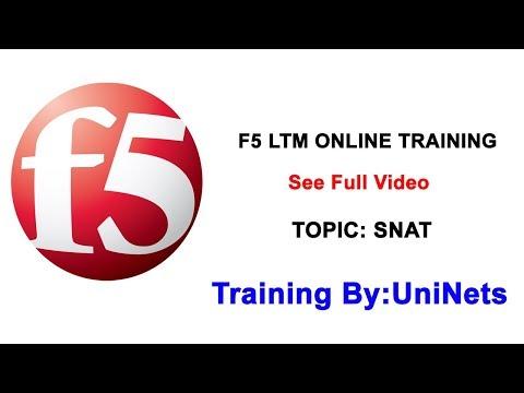 F5 LTM Online Training Video (SNAT = Secure Nat Class) by Expert ...