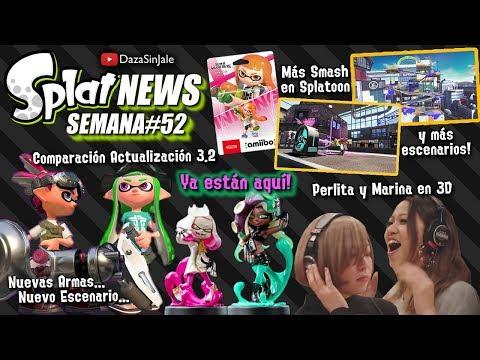 SplatNews #52 Llegan Amiibos de Cefalopop | Actualización 3.2 | Actrices de Perla y Marina
