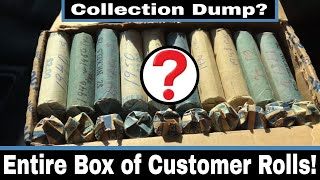Customer Wrapped Rolls Collection Dump - Entire Box of Nickels!
