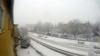 preview picture of video 'sneženie, Košice 31.01.2015'