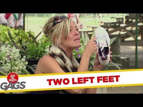 בחורה עם שתי רגליים שמאליות - מצחיק!