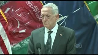Defense Secretary Mattis Speaks to the Press in Afghanistan