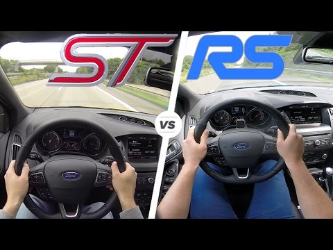 Ford Focus Rs Vs Focus St Acceleration Top Speed Autobahn Pov Drive Steemit