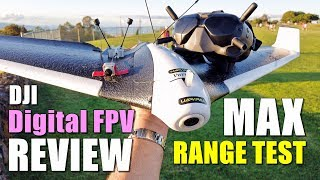DJI Digital FPV System Review - Maximum Range Test (700mw) How Far on 4GLte Parrot Disco?