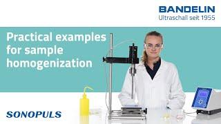 Použití ultrazvukových homogenizátorů Bandelin Sonopuls v praxi-EN