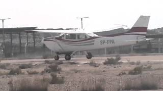 preview picture of video 'SP-FPA Departing Portsaid Intl. Airport (HEPS / PSD)'