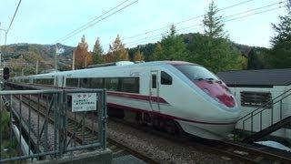 ほくほく線名物!はくたか同士の列車交換 高速通過編  VVVF音がいい!