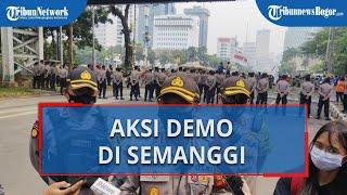 Lanjutan Unjuk Rasa Tolak UU Cipta Kerja di Jakarta, Polisi Antisipasi Massa di Kawasan Semanggi