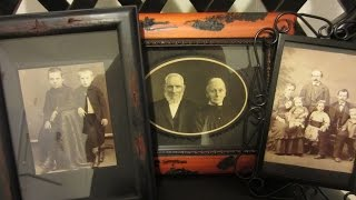 Gothic Home Decor And Halloween Ideas. Gothifyng Your Home. Picture Frames, Old Victorian Photos.