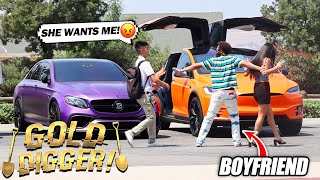 NERD Pulls his First Gold Digger IN THE HOOD! GOLD DIGGER EXPERIMENT (HE STOLE HIS GIRL!)