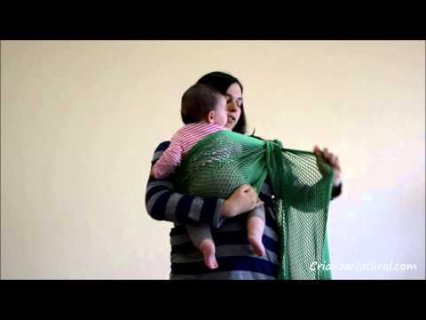 Bandolera portabebés de malla algodón eco Fil'Up Azul Crianza Natural