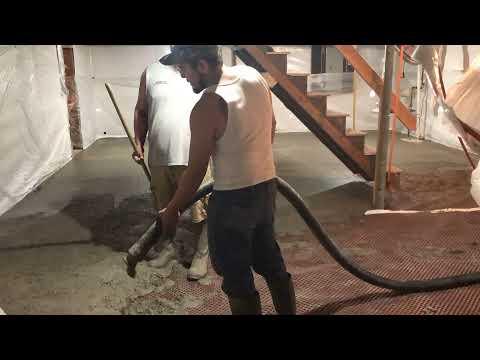 Basement Waterpoofing & New Slab Pour in Altona, New York, by Matt Clark's Northern Basement Systems.