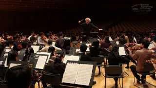 Rehearsal with Sir Simon Rattle (Bruckner / Sinfonie Nr.7 E-Dur)