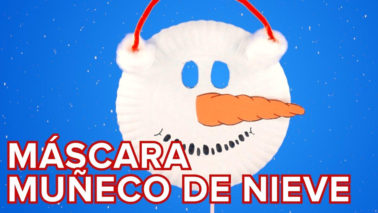Máscara de muñeco de nieve | Manualidad de Navidad