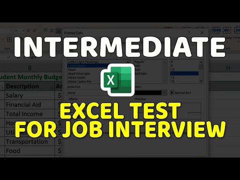 How to Pass Intermediate Excel Employment Test: Questions and Answers
