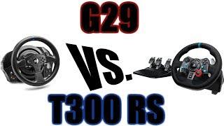 Logitech G29 vs. Thrustmaster T300: The Quick Answer