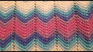 Easy Garter Stitch Chevron Knitting Tutorial!