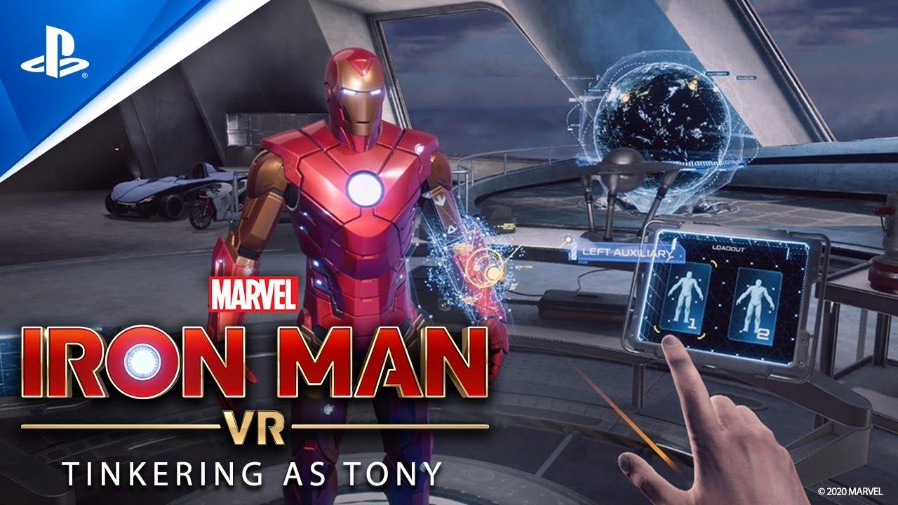 Bastidores: mexendo na Armadura de Impulso na oficina do Tony em Marvel's Iron Man VR