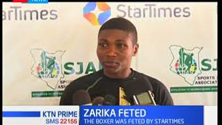 World Boxing Bantamweight Women Champion Fatuma Zarika wins Star Times player of the month