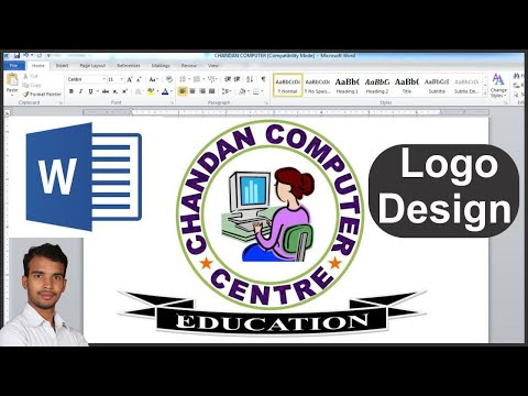 How to make a logo design in microsoft word - YouTube