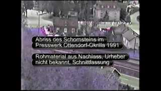 preview picture of video 'Schornsteinabriss im Prewßwerk Ottendorf-Okrilla 1991'