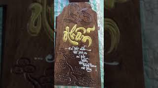 khắc chữ trên gỗ