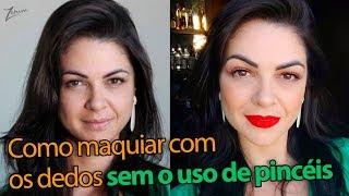 MAQUIAGEM SIMPLES COM OS DEDOS | quick makeup