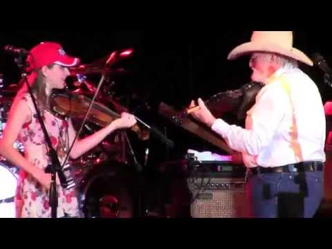 Charlie Daniels & 13 year old Maggie Baugh -Devil Went Down to Georgia - Weston FL, Mar 1 2014