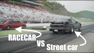 Boosted Rooster BATTLES RACECARS! Street Car Takeover Bristol!!