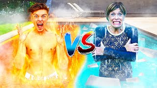 Last To Leave HOT vs COLD Pool - Challenge